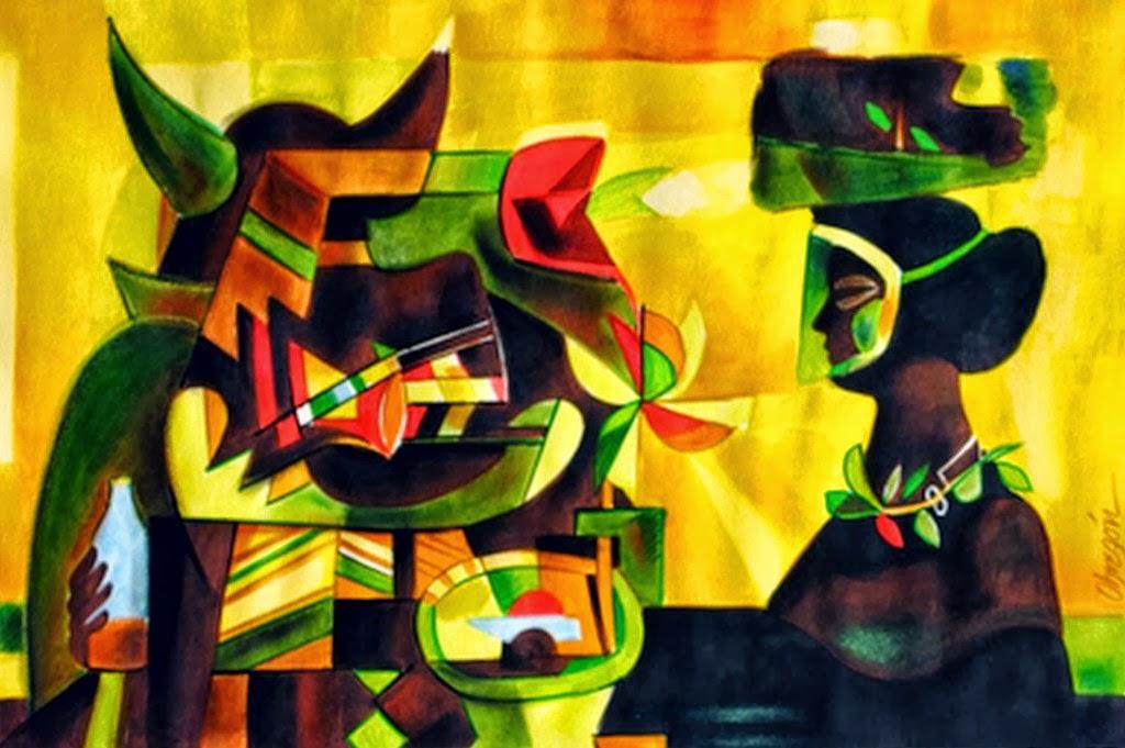 Cuadros modernos pinturas y dibujos pintura con esp tula for Pintura acrilica moderna