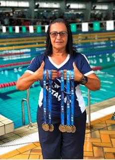 Nadadora Registrense está entre as cinco melhores do país