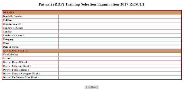 Patwari-Training-under-Revenue-and-Disaster-Management-RDP17-Examination-result