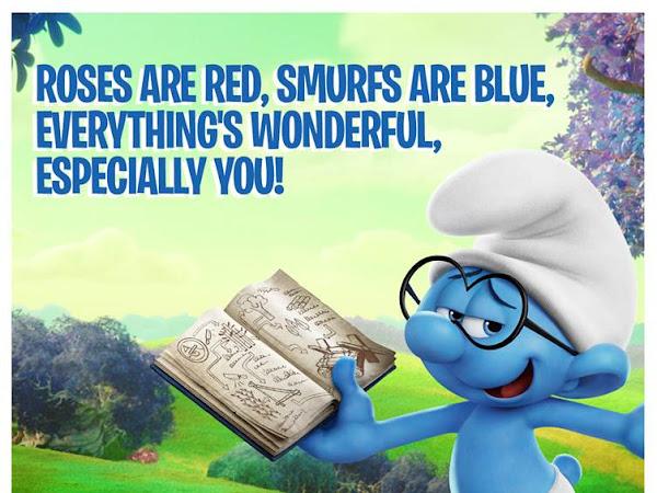 Last Minute DIY Smurf Valentines Day Cards