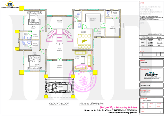 Ground floor plan drawing