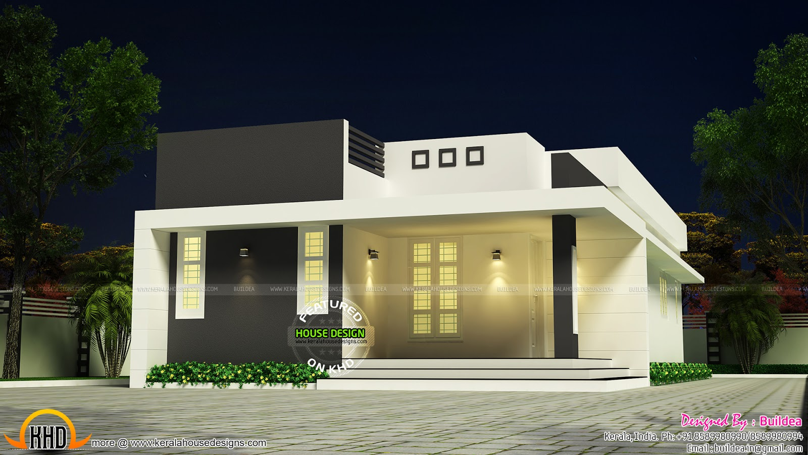Simple and beautiful low budget house kerala home design for Simple beautiful house