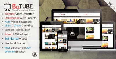 Download Free BeeTube v2.3.3 Themeforest Video WordPress Theme