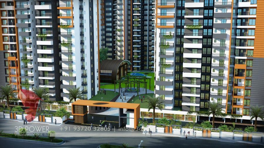 High Rise Apartment Design Exterior high rise apartment 3d renderings & architecture | apartment