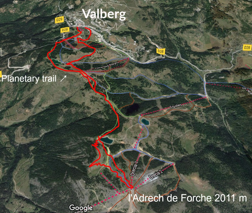 Our planetary trail track Valberg