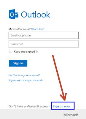 cara daftar email hotmail