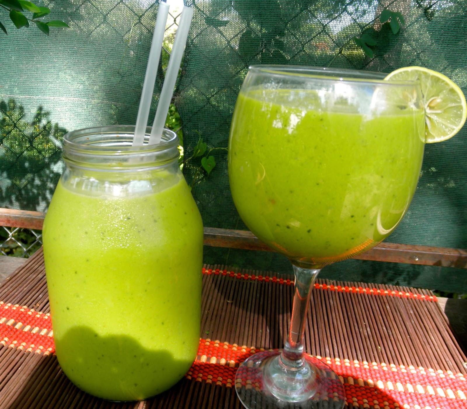 Smoothie verde para desayunar
