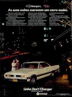 propaganda Dodge Dart/Charger - 1977.  propaganda anos 70. propaganda carros anos 70. reclame anos 70. Oswaldo Hernandez..
