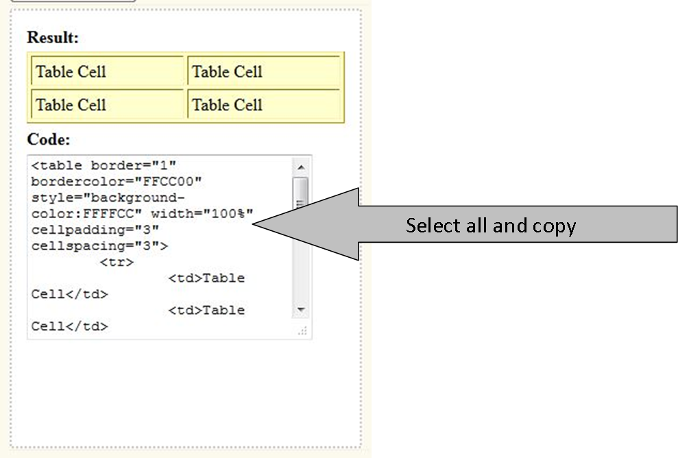 The Liebers: How to create an HTML table for your sidebar