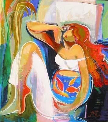 Peixe Dourado - Irene Sheri e suas românticas pinturas