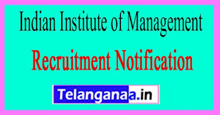 Indian Institute of Management IIM Rohtak Recruitment Notification 2017