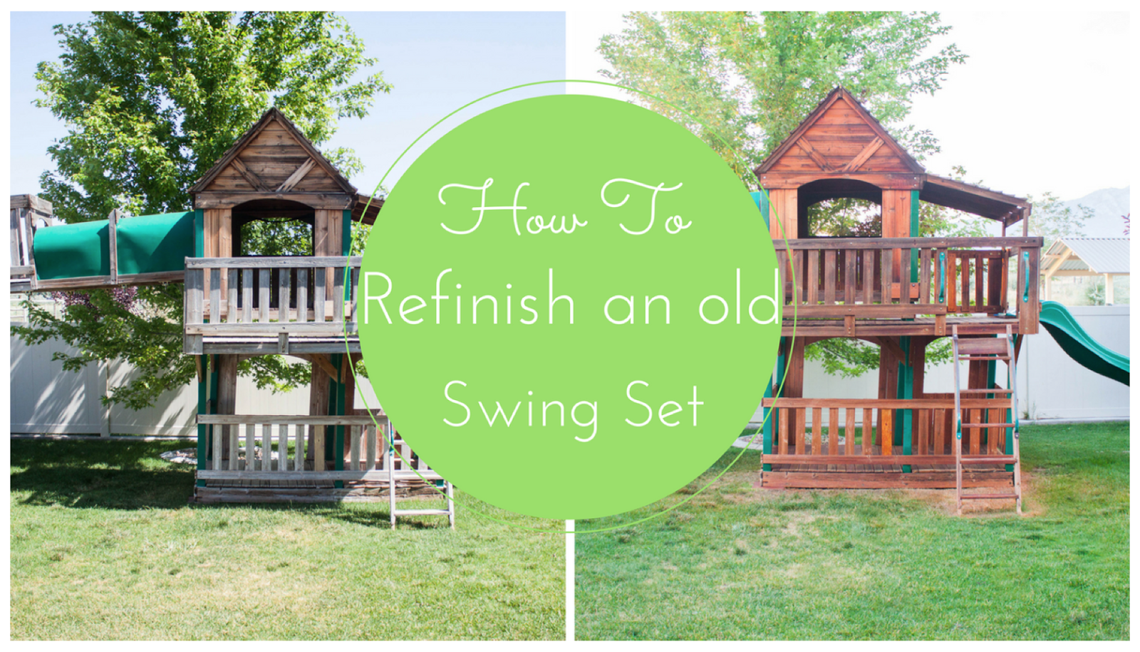 how to stain a swing set