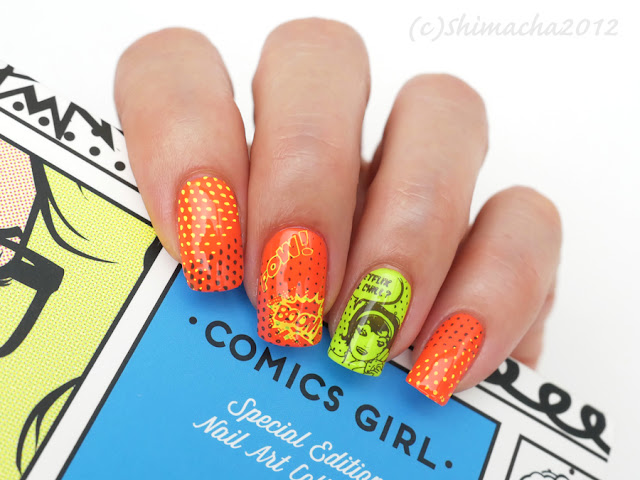 moyou London, stamping, colour alike neon,  スタンピングネイル