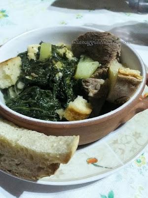 minestra di cicoria con brodo di carne