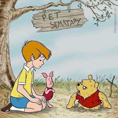 Meme de humor sobre Winnie the Pooh y Stephen King