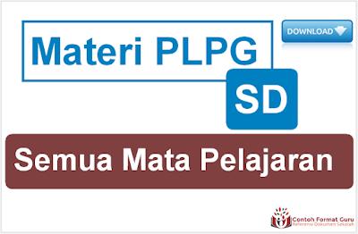 Materi PLPG SD Semua Mata Pelajaran Lengkap