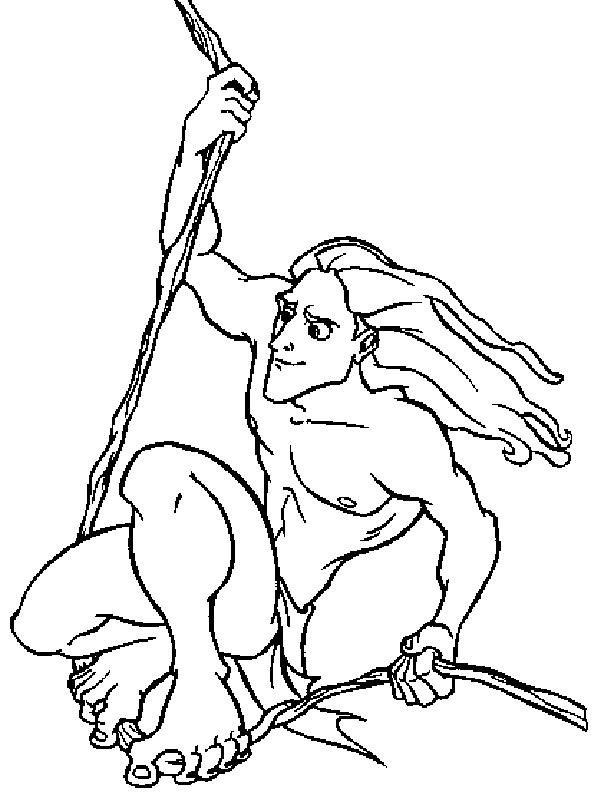 Disney Colouring Book For Kids Tarzan Coloring Pages For Kids