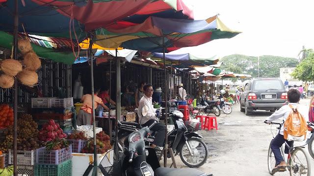 Alrededores del Mercado Central de Battambang