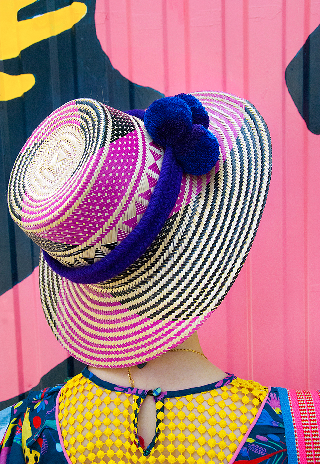 wayuu hat, colours, fashion blogger