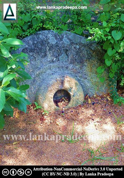 A Chatra stone, Galmaduwa temple, Ampara