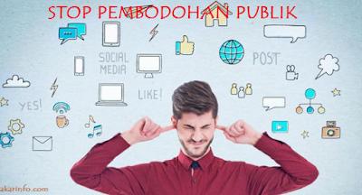 Akar Info - Sosial Media dan Pembodohan Publik