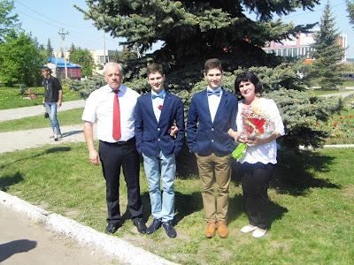 Татьяна Ошарина с мужем и внуками
