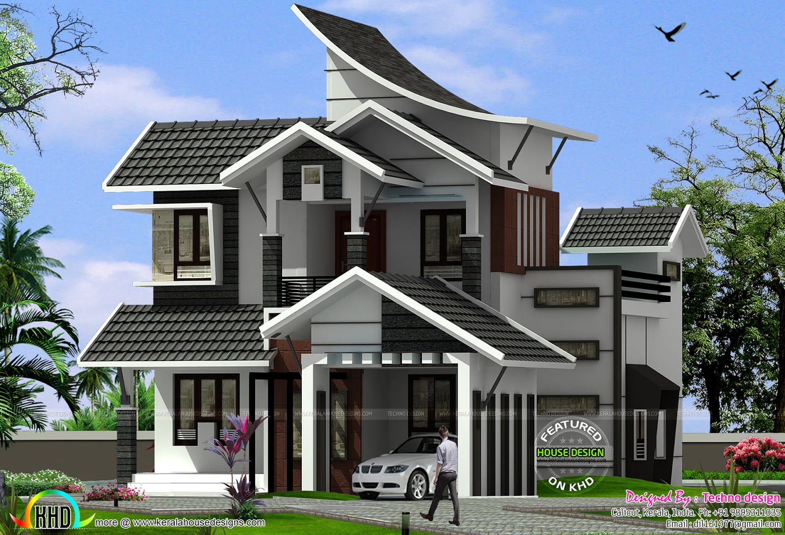 Simple house plans for kerala front design for Simple mansion