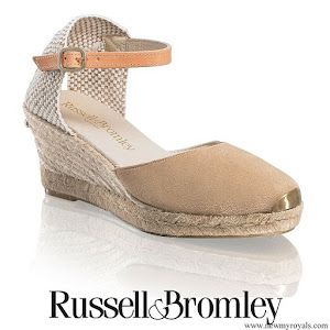 Kate Middleton wore Russell & Bromley Coco Nut ankle strap espadrille wedges