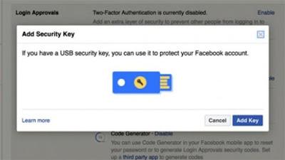 Facebook Datangkan Fitur Support USB Keys   Untuk Tingkatkan Keamanan