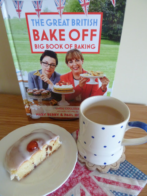 A cup of tea and a slice of cake