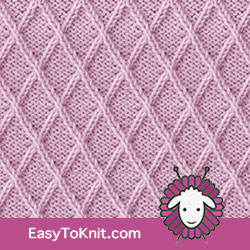 Twist Cable 28: Lattice | Easy to knit #knittingstitches #knitcables