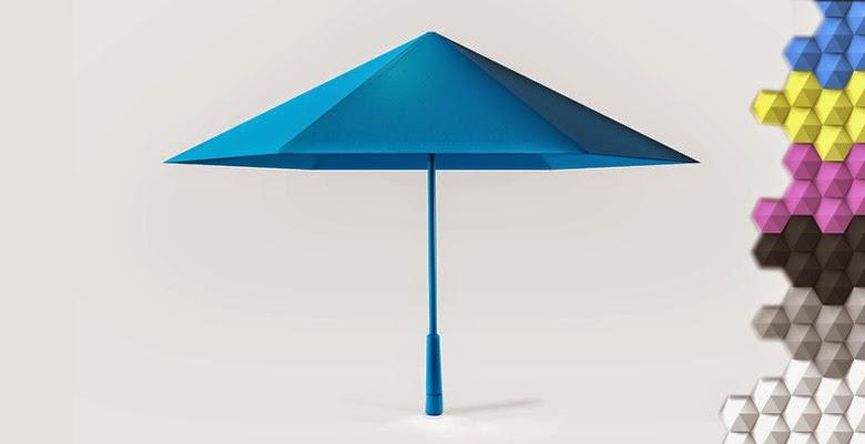 Guarda-chuva Origami com design inovador