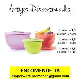 130017 - Luminosa 1,3L 130018 - Luminosa 2,5L 130019 - Luminosa 4,3L Tupperware