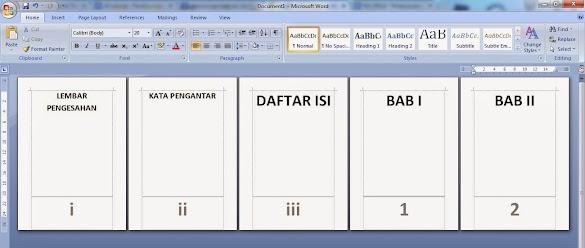 Cara Memberi Halaman Pada Microsoft Word Secara Berurutan