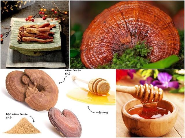 chế biến nấm linh chi chăm sóc sức khỏe