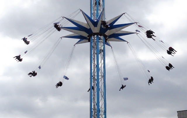 Britain's tallest carousel ride, Sheffield, Fargate, March 2016