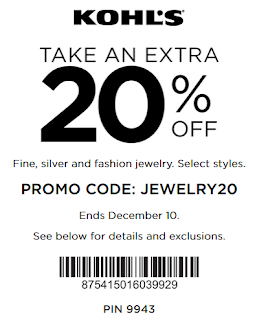 Kohls coupon 20% off fine jewelry