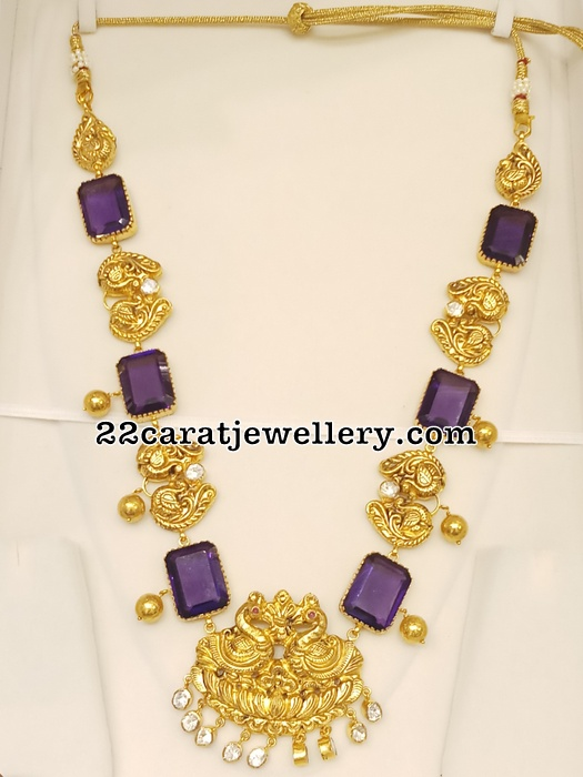 Purple Color Hydro Stones Necklace