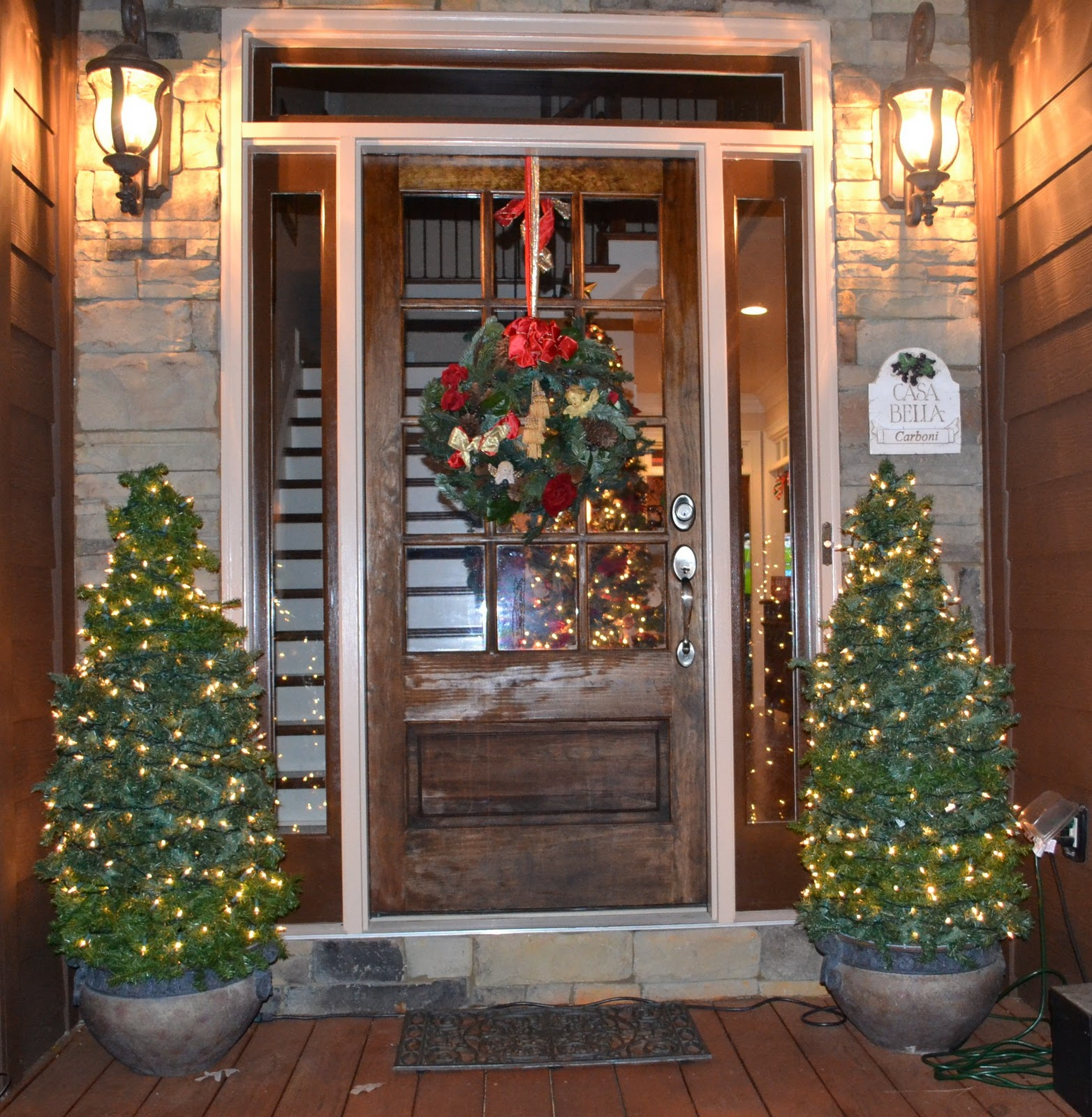 Southern Accents: Christmas Trees For The Porch