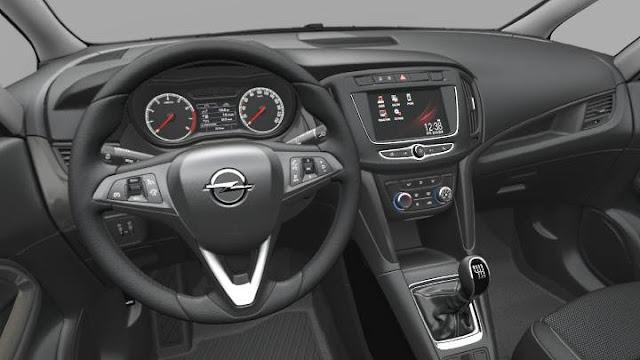 Interior del Opel Zafira 2016, noticias del motor