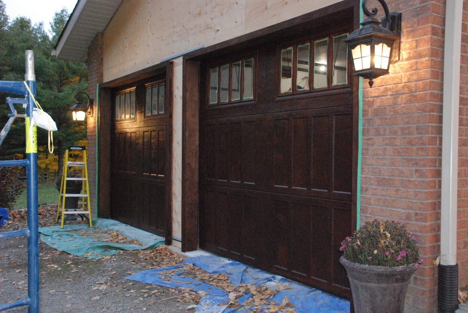 Real Wood Garage Doors? Uh> No, painted metal. | Fun Spray Paint n ...