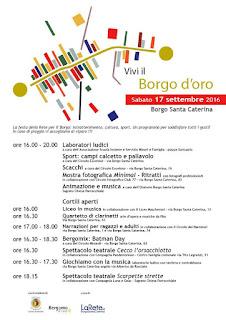 Locandina di Vivi il Borgo d'Oro del 17/09/2016 a Bergamo