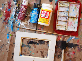 materials needed to paint frames