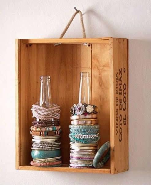 reutilizar caixotes de madeira nicho