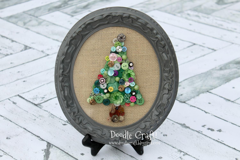 Doodlecraft: Jeweled Button Christmas Tree Art
