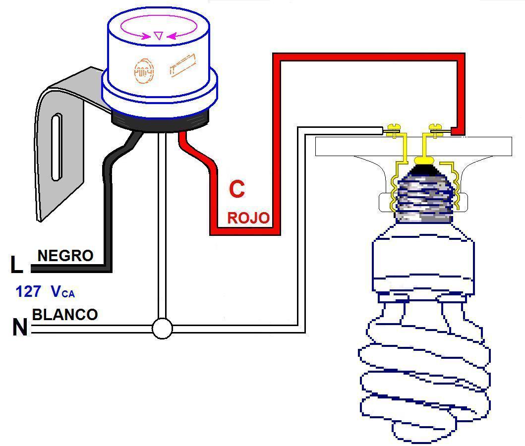 120v Led Night Light Circuit Diagram Coparoman Control Fotoel 233 Ctrico Para L 225 Mparas