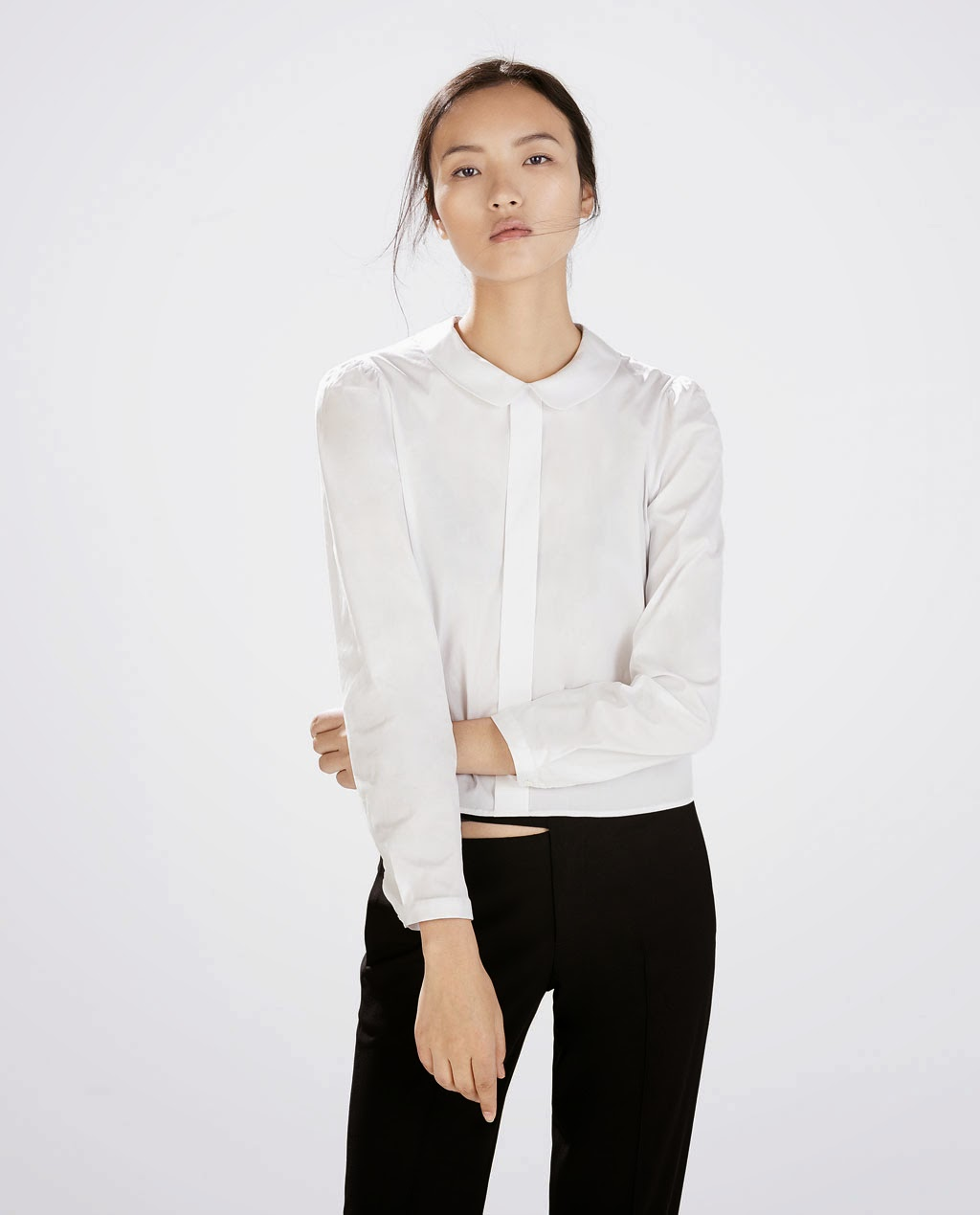http://www.zara.com/us/en/woman/outerwear/blouse-with-peter-pan-collar-c269183p2314039.html