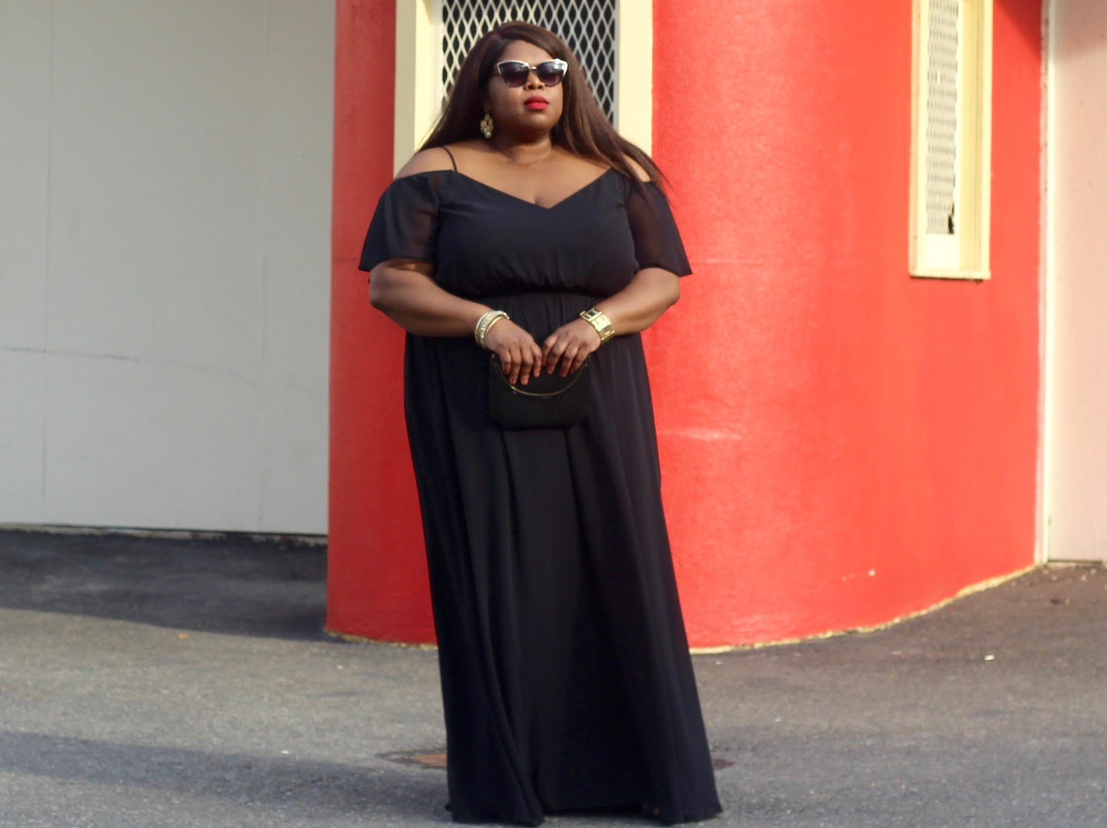 plus size off the shoulder
