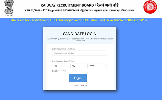 freejobadda.in,Check Your RRB ALP / Technician CBT-2 Result