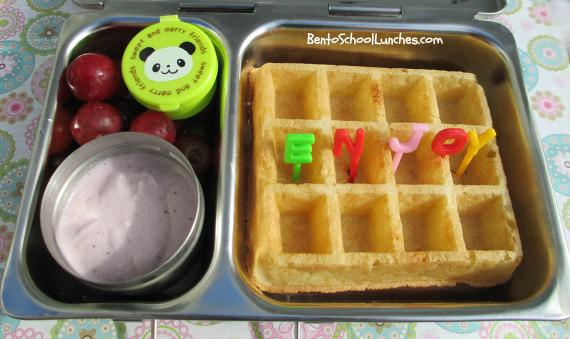 Belgian waffle snack bento